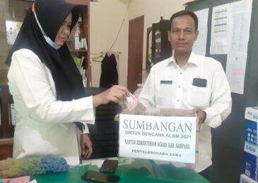 Kemenag Sampang Galang Donasi Untuk Korban Bencana Alam di Indonesia